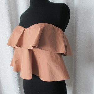 NEW $250 REBECCA TAYLOR nude tiered cami TOP 0